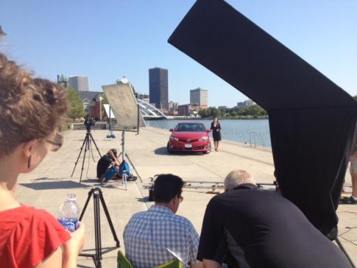 Riverside video shoot