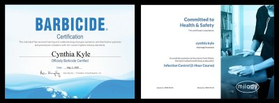 Cynthia Kyle Certificates